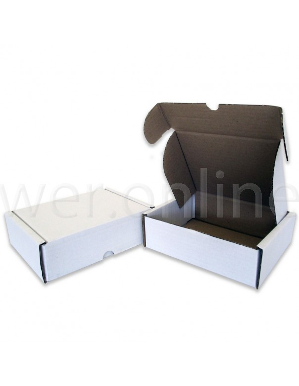 "6 x 6 x 2½"" (150 x 150 x 60mm) - White Die-cut Postal Boxes"
