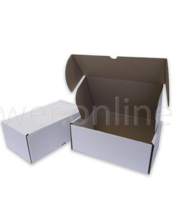 """10 x 6 x 4"""" (250 x 150 x 100mm) - White Die-cut Postal Boxes"""