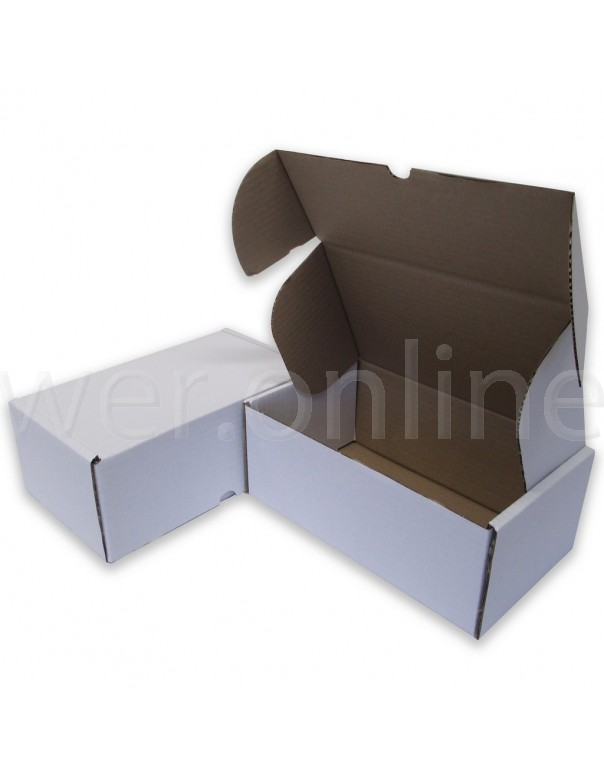 "12 x 10 x 4"" (300 x 250 x 100mm)  - White Die-cut Postal Boxes"
