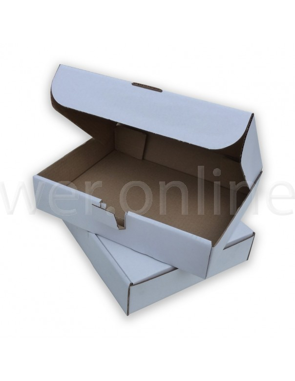 12 x 9 x 2½ (310 x 234 x 63mm)  - White Die-cut Postal Boxes