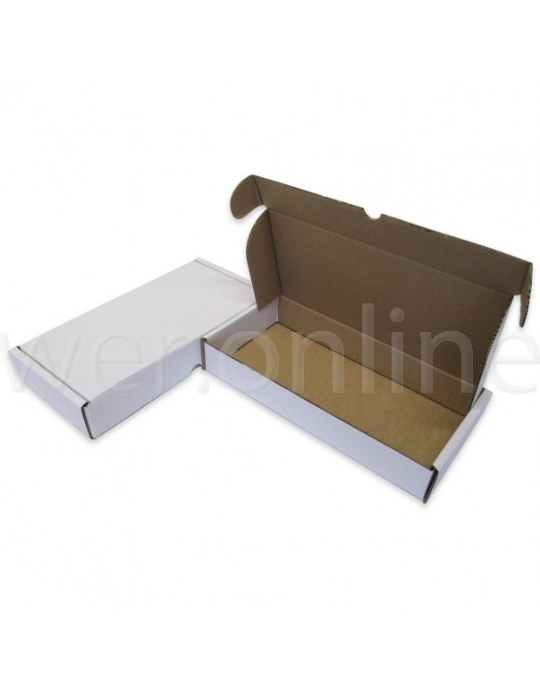 """12 x 6 x 2"""" (305 x 152 x 50mm) - White Die-cut Postal Boxes"""