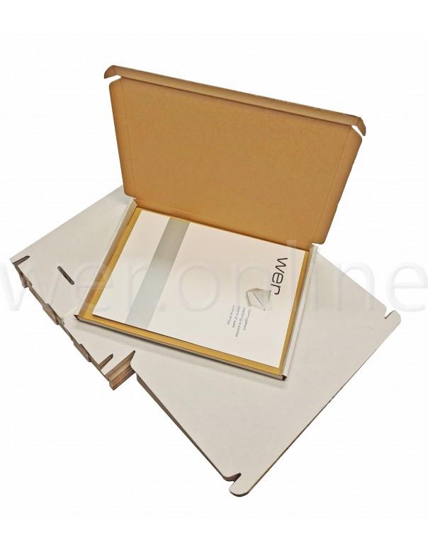 320 x 230 x 19mm - White C4 Large Letter - Royal Mail Sized PIP Postal Boxes