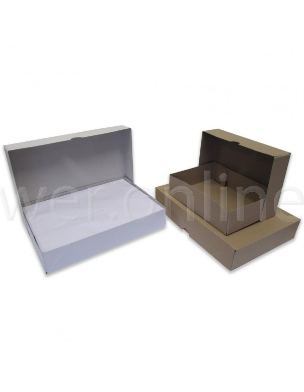 215 x 156 x 57mm A5 Ream Boxes - Brown Base and Lids