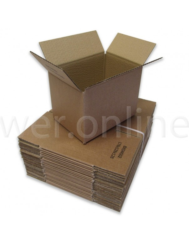 "7 x 5 x 5"" (178 x 127 x 127mm) - Single Wall Cardboard Boxes"