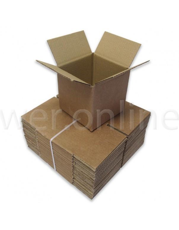 "6 x 6 x 6"" (152 x 152 x 152mm) - Single Wall Cardboard Boxes"