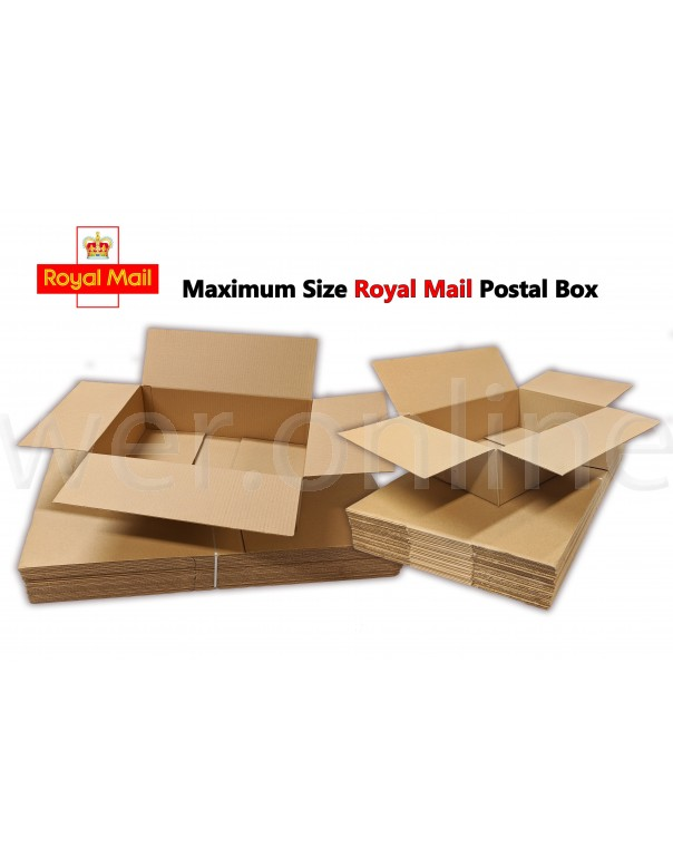 440 x 340mm x 144mm - Single Wall Boxes - Royal Mail Small Parcel Size