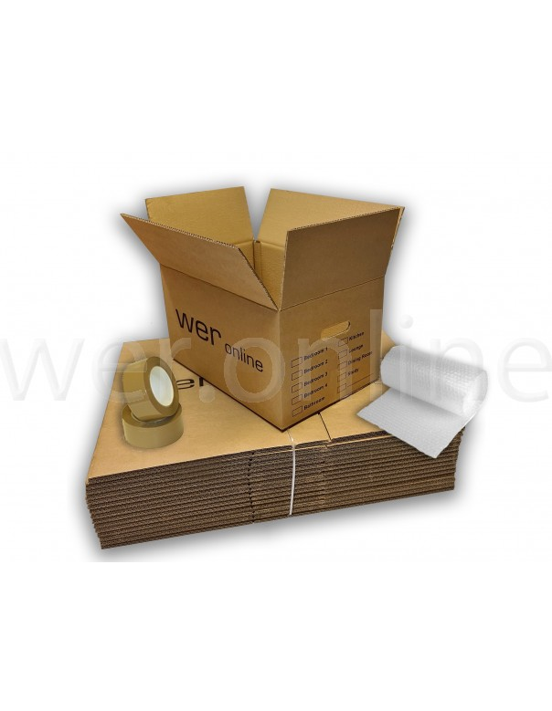 Printed Room Box Cardboard Boxes - 1-2 Bedroom Removal Bundle
