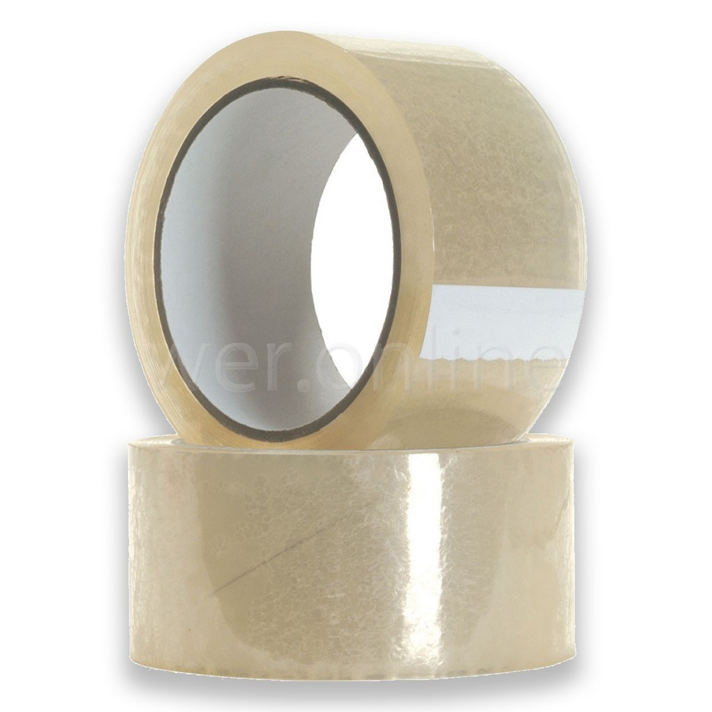 PREMIUM LOW NOISE FRAGILE PARCEL PACKING TAPES FOR SEALING BOXES 48mm x 66M