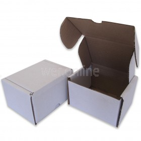 """5 x 4 x 3"""" (120 x 100 x 80mm) - White Die-cut Postal Boxes"""