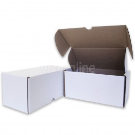 "8 x 4 x 4"" (200 x 100 x 100mm)  - White Die-cut Postal Boxes"