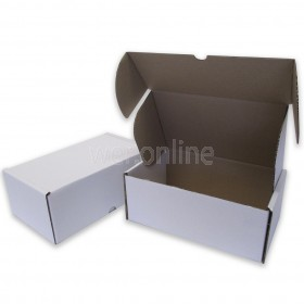 "10 x 6 x 4"" (250 x 150 x 100mm) - White Die-cut Postal Boxes"