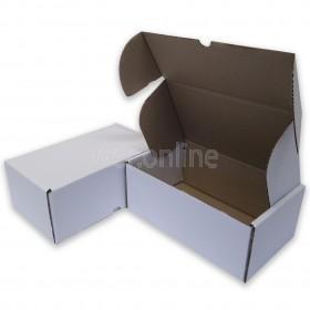"""12 x 10 x 4"""" (300 x 250 x 100mm) - White Die-cut Postal Boxes"""