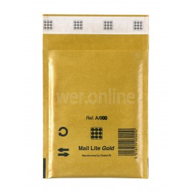 110mm x 160mm MailLite® Envelopes - A/000 Gold