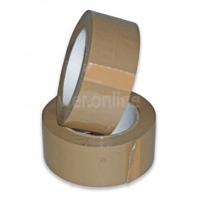 48mm x 132M Buff Parcel Tape - Solvent Adhesive