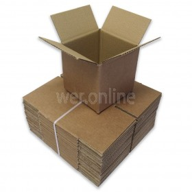 "6 x 6 x 6"" (152 x 152 x 152mm) - Single Wall Cardboard Boxes"