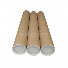 Pack of 50 A1 Cardboard Postal Tubes - 640MM X 76MM X 1.5MM