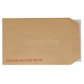 A4 Board Back Envelopes- 324mm x 229mm - 'Do Not Bend' Manilla Envelopes