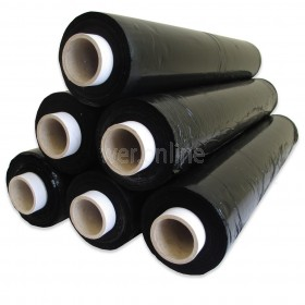 500mm x 200M 25Mu Hand Stretch wrap - Black Blown Stretchwrap Rolls