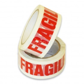 48mm x 66M 'FRAGILE' Printed Tape - Low Noise Acrylic Adhesive