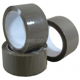 48mm x 66M Buff Parcel Tape - Low Noise Acrylic Adhesive