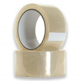 48mm x 66M Clear Parcel Tape - Low Noise Acrylic Adhesive