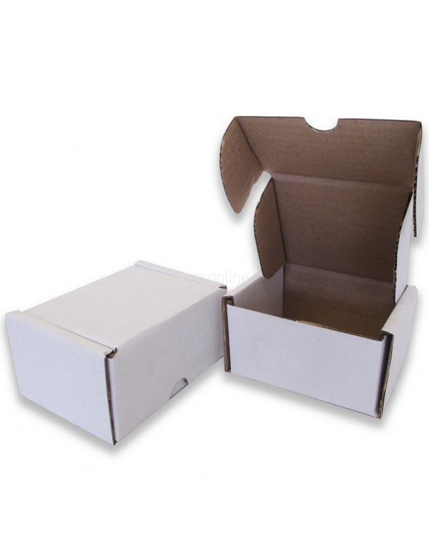 """4 x 3 x 2½"""" (100 x 80 x 60mm) - White Die-cut Postal Boxes"""