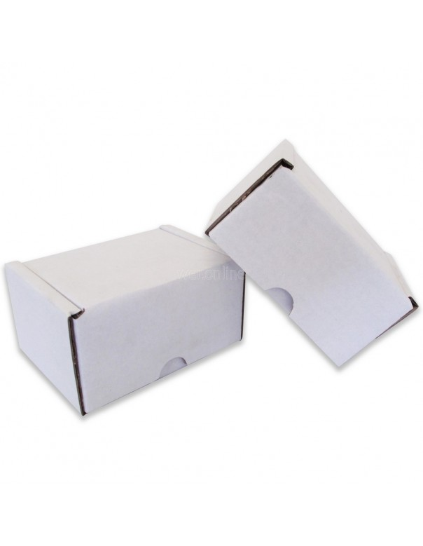 "4 x 3 x 2½"" (100 x 80 x 60mm) - White Die-cut Postal Boxes"
