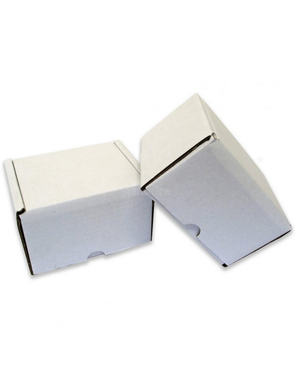 "5 x 4 x 3"" (120 x 100 x 80mm) - White Die-cut Postal Boxes"