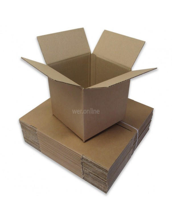 "8 x 8 x 8"" (203 x 203 x 203mm) - Single Wall Cardboard Boxes"